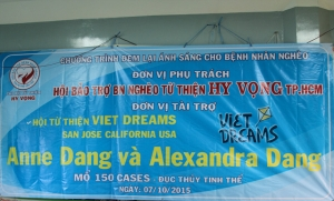 Viet Dreams free eye cateract surgeries 10-2015